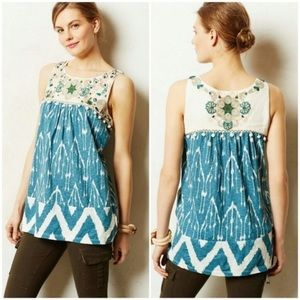 Anthropologie Floreat Cascata Tank